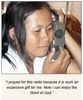give a radio